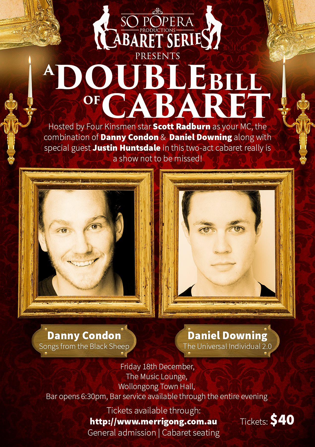 A Double Bill of Cabaret – Daniel Downing & Danny Condon