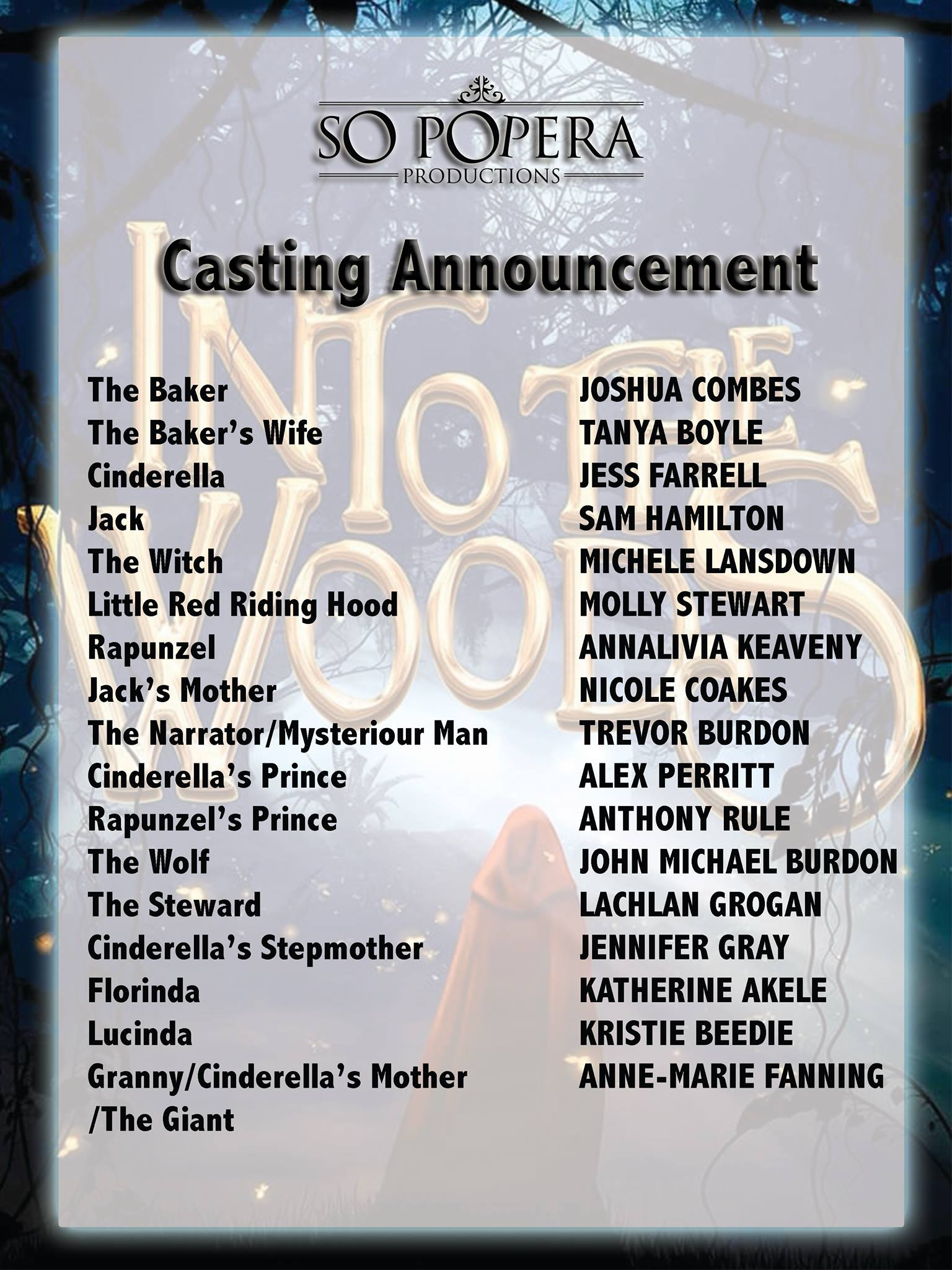 Into the Woods – Cast Announced!
